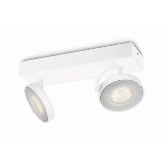 Plafonnier Philips Clockwork LED Blanc, 2 lumières