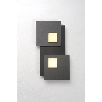Plafonnier Bopp PIXEL 2.0 LED Noir, 2 lumières
