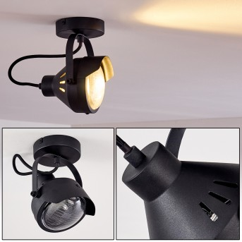 Plafonnier Rahway Noir, 1 lumière