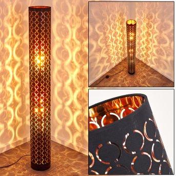Lampadaire Faborg Noir, 2 lumières