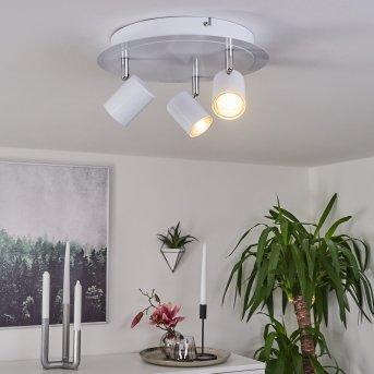 Plafonnier Chennai LED Chrome, Blanc, 3 lumières