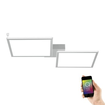 Plafonnier Paul Neuhaus Q-ROSA LED Blanc, 2 lumières, Télécommandes