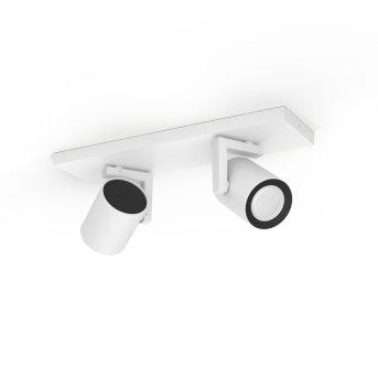 Spot de plafond Philips Hue Ambiance White & Color Argenta Blanc, 2 lumières, Changeur de couleurs