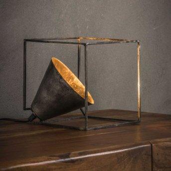 Lampe de table Haastrecht Argent Oxydé, 1 lumière