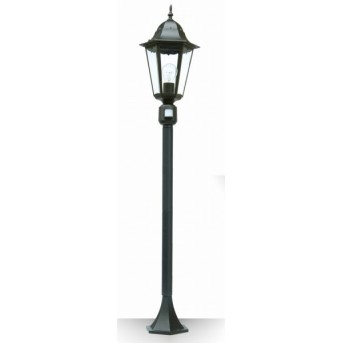 Borne d'éclairage LUTEC BRISTOL Noir, 1 lumière, Détecteur de mouvement