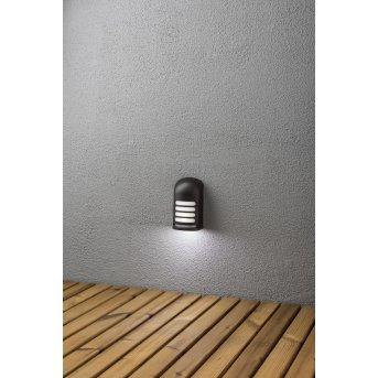 Applique murale Konstsmide Prato LED Noir, 1 lumière, Détecteur de mouvement