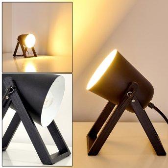 Lampe à poser Novilly Noir, 1 lumière