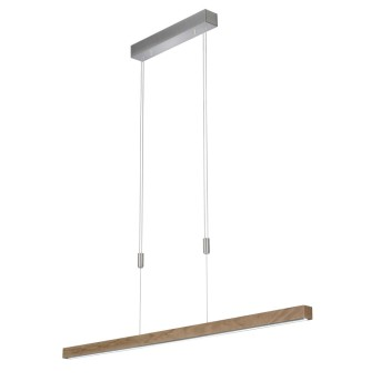 Suspension Fischer & Honsel STASSBURG LED Nickel mat, 1 lumière