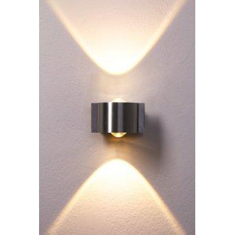Applique murale Bleuchten Stream LED Acier inoxydable, 2 lumières