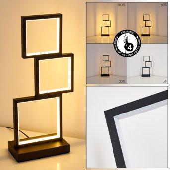 Lampe de table Bacolod LED Noir, 1 lumière