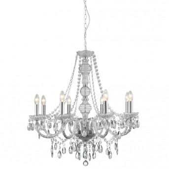 Lustre Searchlight MARIE THERESE Chrome, Transparent, 8 lumières