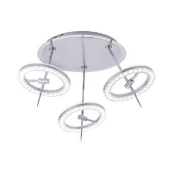 Plafonnier Paul Neuhaus Q-AMY LED Acier inoxydable, 6 lumières, Télécommandes