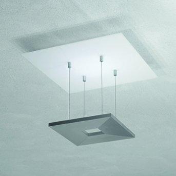 Plafonnier Escale ZEN D2W LED Anthracite, Blanc, 4 lumières
