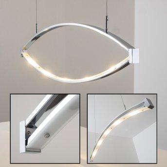 Suspension Honsel Lucy LED Chrome, 5 lumières
