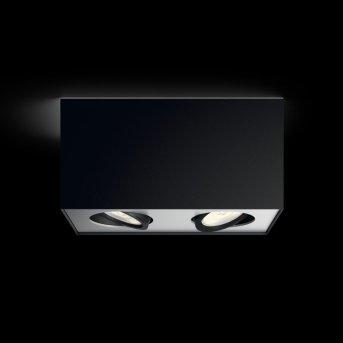 Plafonnier Philips Box LED Noir, 2 lumières