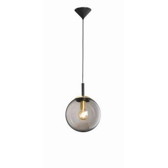 Suspension Fischer & Honsel living Dini Noir, 1 lumière
