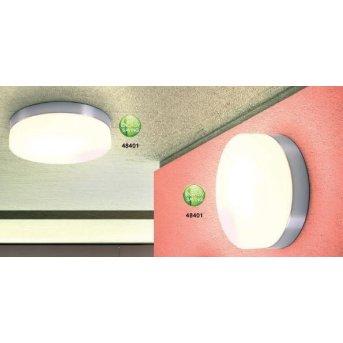 Plafonnier Globo OPAL Nickel mat, Acier inoxydable, Blanc, 1 lumière