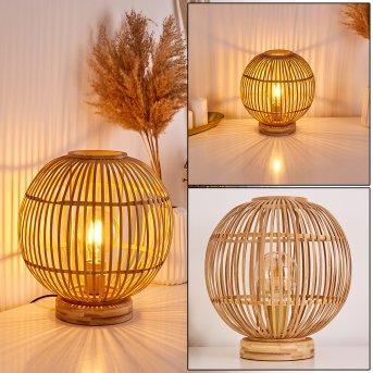 Lampe de table Geubus Brun clair, 1 lumière