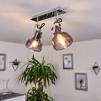 Plafonnier Lulea Chrome, 2 lumières