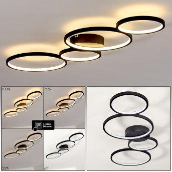 Plafonnier Rodekro LED Noir, 1 lumière