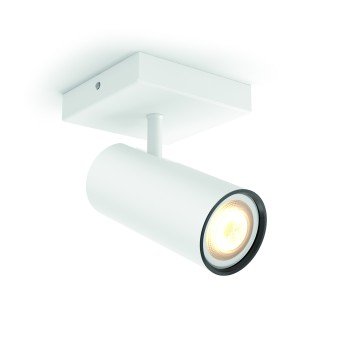 Spot, kit d'extension Philips Hue Ambiance White Buratto Blanc, 1 lumière