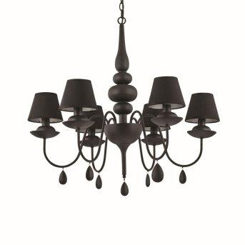 Lustre Ideal Lux BLANCHE Noir, 6 lumières