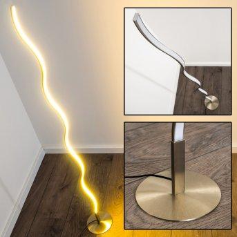 Lampadaire Dillon LED Nickel mat, 1 lumière