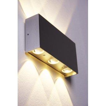 Applique murale Bleuchten Stream LED Aluminium, 6 lumières