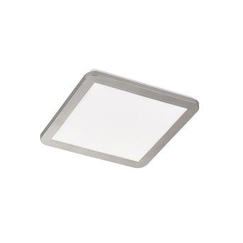 Plafonnier Honsel Gotland LED Nickel mat, 1 lumière