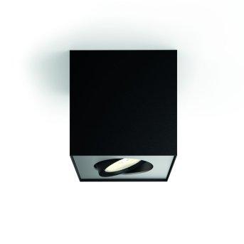 Plafonnier Philips Box LED Noir, 1 lumière