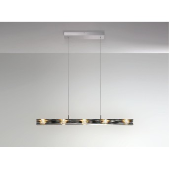 Suspension Escale MILE FEUILLES LED Aluminium, 5 lumières