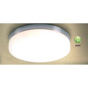 Plafonnier Globo OPAL Nickel mat, Acier inoxydable, Blanc, 3 lumières