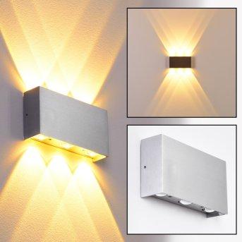 Applique murale Lente LED Aluminium, 6 lumières