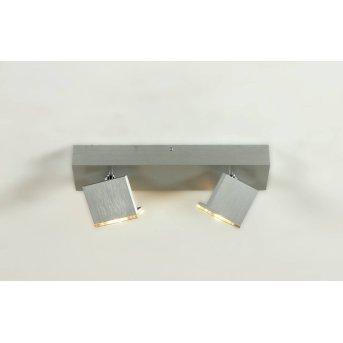 Spot plafond Bopp Elle LED Aluminium, 2 lumières