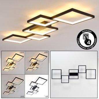 Plafonnier Bacolod LED Noir, 1 lumière