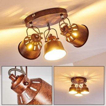 Plafonnier Safari Rouille, 3 lumières