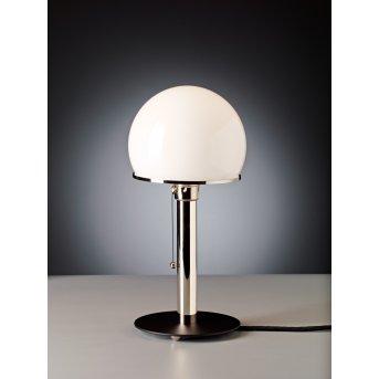 Wagenfeld 23 Tecnolumen Lampe à poser Nickel mat, Noir, 1 lumière