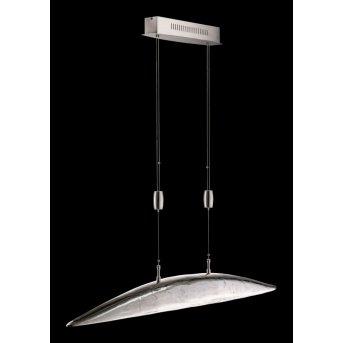 Suspension Fischer SHINE LED Nickel mat, 6 lumières