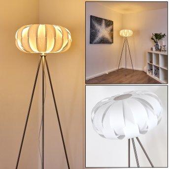 Lampadaire Zobus Nickel mat, 1 lumière