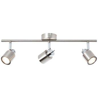 Plafonnier Brilliant ANDRES Nickel mat, Chrome, 3 lumières