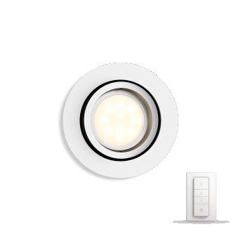 Spot encastrable, kit d'extension  Philips Hue Ambiance White Milliskin Blanc, 1 lumière, Télécommandes