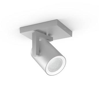 Spot pour plafond et mur, kit d'extension Philips Hue Ambiance White & Color Argenta Argenté, 1 lumière, Changeur de couleurs