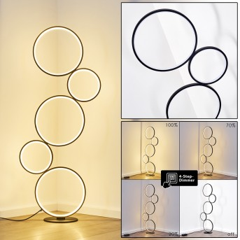 Lampadaire Rodekro LED Noir, 1 lumière