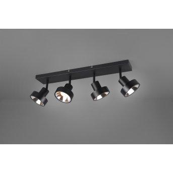 Spot Trio Leon LED Noir, 4 lumières