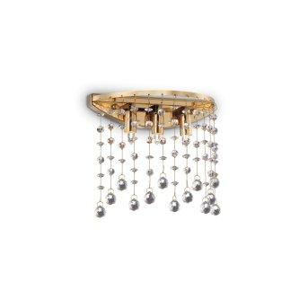 Applique murale Ideal Lux MOONLIGHT Aspect cristal, Champagne, 3 lumières