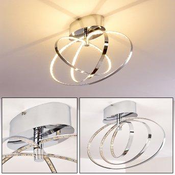 Plafonnier LED Ringos Chrome, 1 lumière