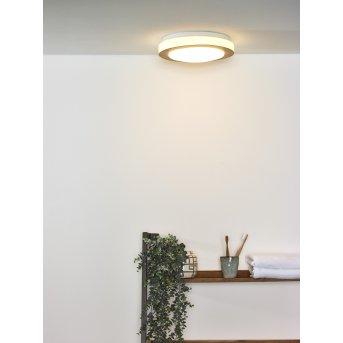 Plafonnier Lucide DIMY LED Bois foncé, 1 lumière