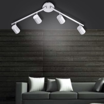 Spot de plafond Leuchten Direkt Blanc, 4 lumières