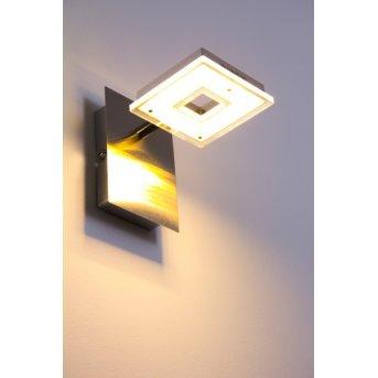 Applique murale LED Globo Kerstin Nickel mat, 1 lumière