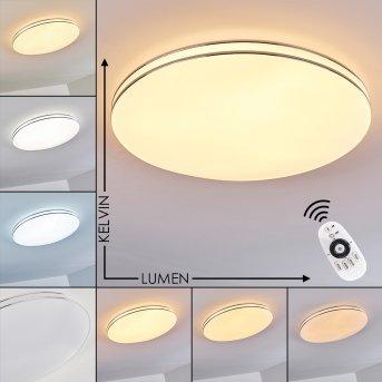 Plafonnier Genthin LED Blanc, 1 lumière, Télécommandes